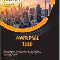Printable Cover Page Template 4