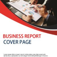 Business Report cover page template 4