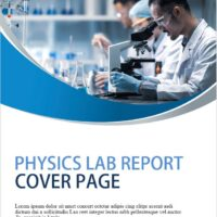 Physics Lab Report Cover Page tEMPLATE 2