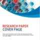 Research Paper Cover Page Template 3