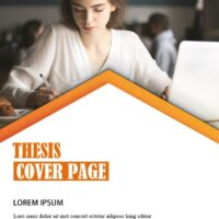 Printable Thesis Cover Page Template 5